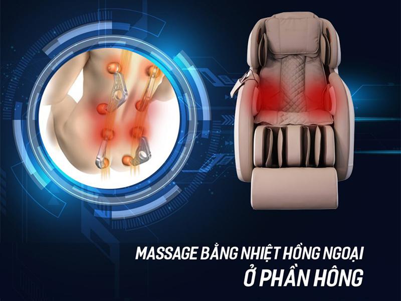 Ghế massage hồng ngoại toàn thân
